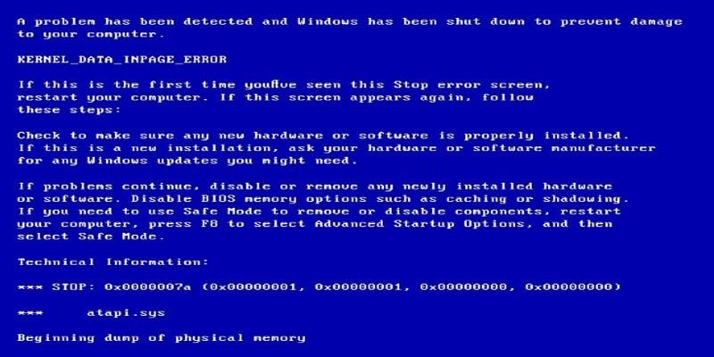 UNEXPECTED KERNEL MODE TRAP BSOD Error in Windows 10