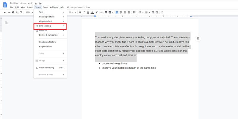how to do one inch margins on google docs