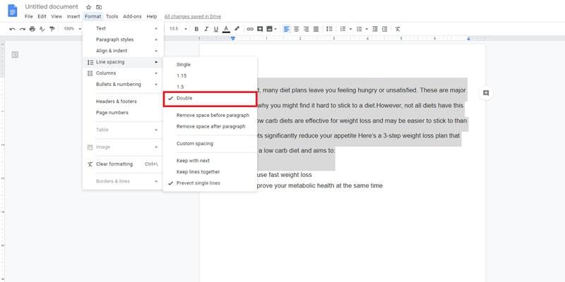 google docs different margins per page