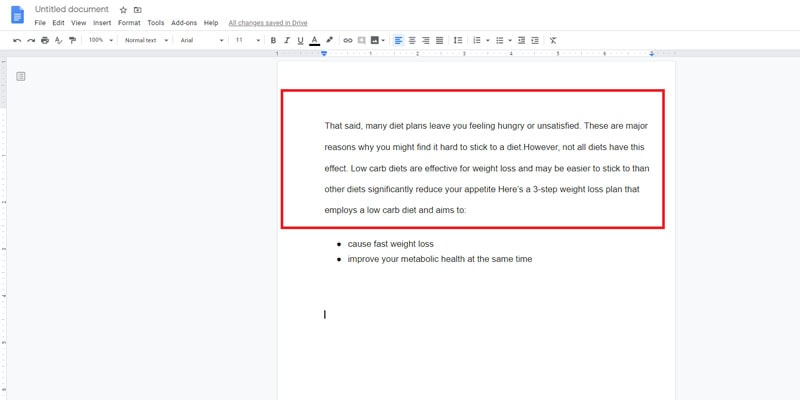 how to make 1 inch margins in google docs