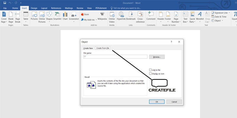 MICROSOFT OFFICE-PDF TO WORD DOC-createfile