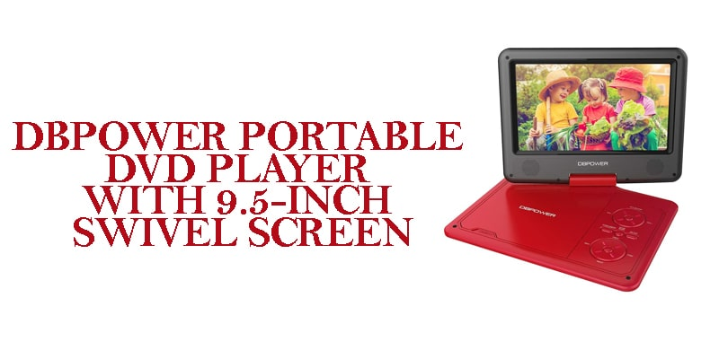 DBPOWER Portable9.5-dvd player with screen
