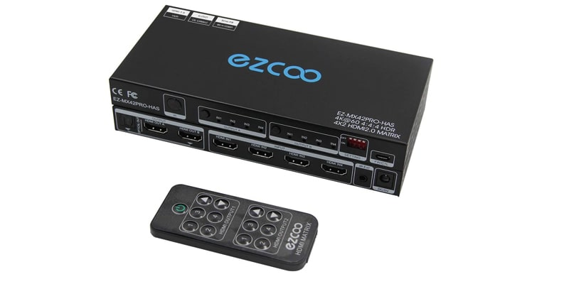 EZCOOTECH HDMI Matrix Switch 4x2
