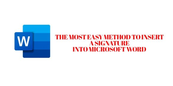 How to insert signature in Microsoft word